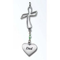 Cross Ornament for Dad