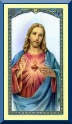 Sacred Heart Holy Card
