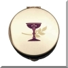 Communion Pyx with Chalice and Wheat Design